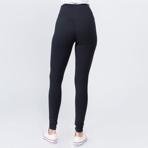 New Mix Pants - Charcoal Peach Skin Leggings